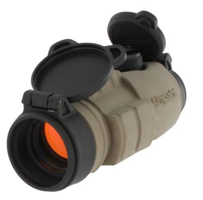 Aimpoint CompM3 reflex sight with 'Coyote' colored protective cover