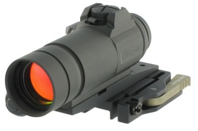 Aimpoint CompM4s on Aimpoint's own QD mount with cantilever adapter.