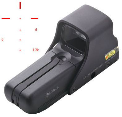 Eotech 552.XR308 holographic weapon sight for .308 (7.62x51mm) weapons