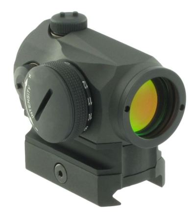 Aimpoint Micro T-1 on Weaver/Picatinny mount with optional riser