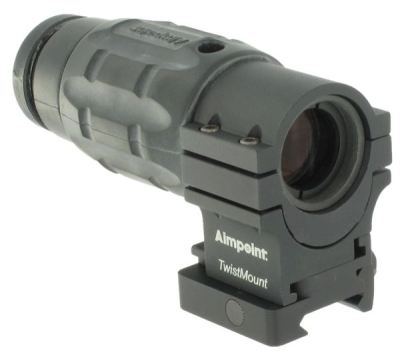 Aimpoint 3XMag magnifier on TwistMount with Co-witness Spacer