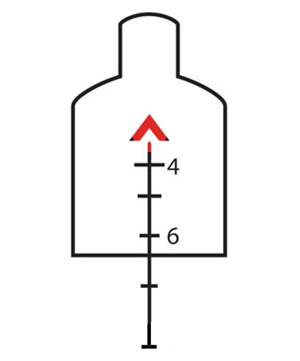 Trijicon TA648 5.56 mm reticle