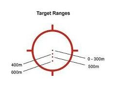 The EXPS3-4 reticle enables aimed fire out to 600 meters