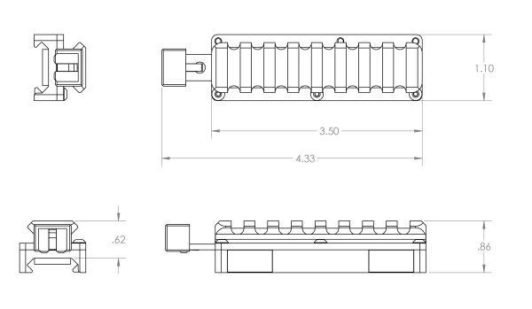 SIDELOK Universal Riser dimensions