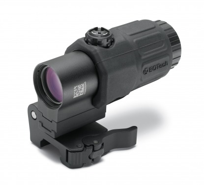 New Eotech Gen 3 Magnifier on QD flip to side mount with spacer